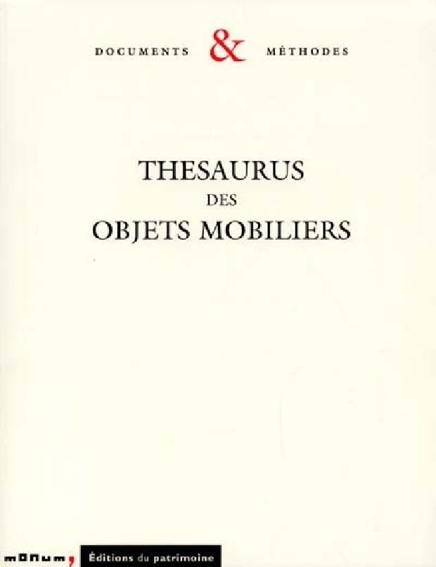 Livre - Thésaurus des objets mobiliers