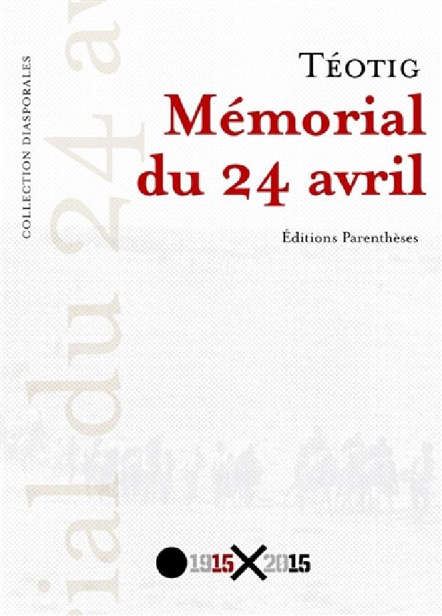 Livre - Mémorial du 24 avril