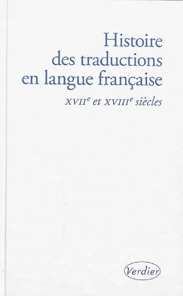 Livre - Histoire des traductions en langue française