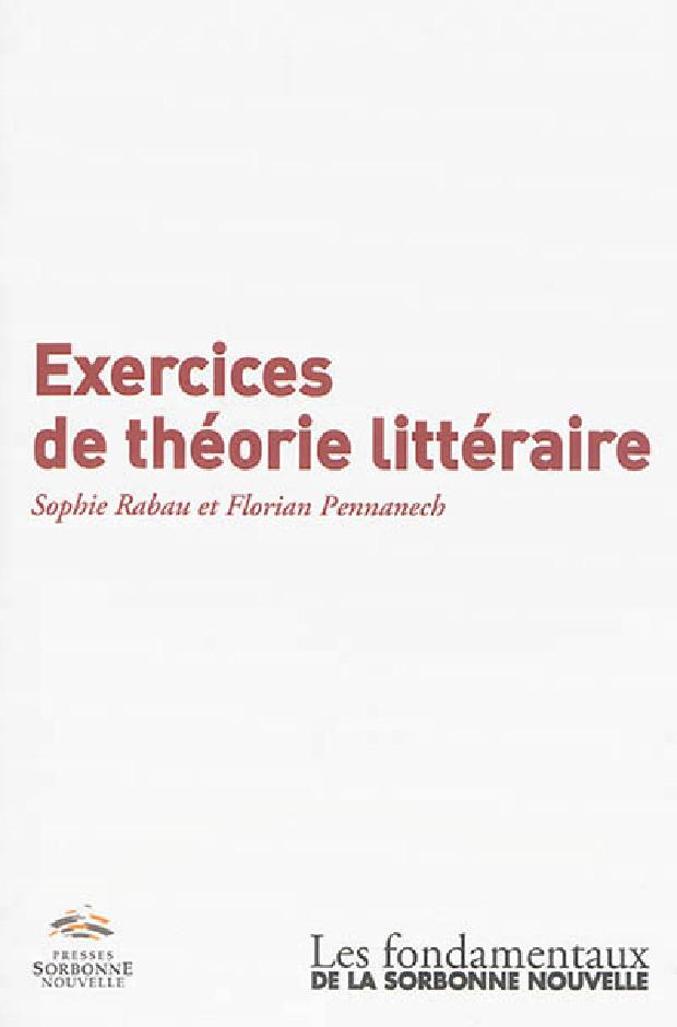 Livre - Exercices de théorie littéraire