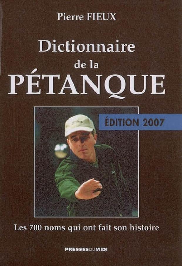 Livre - Dictionnaire de la pétanque