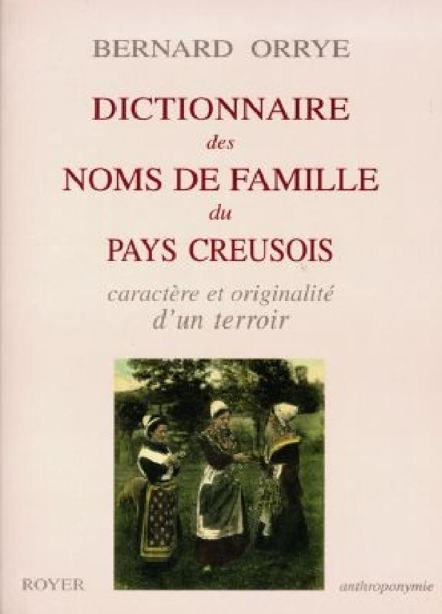 Livre - Dictionnaire des noms de famille du pays creusois