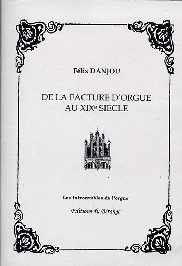 Livre - De la facture d'orgue au XIXe siècle