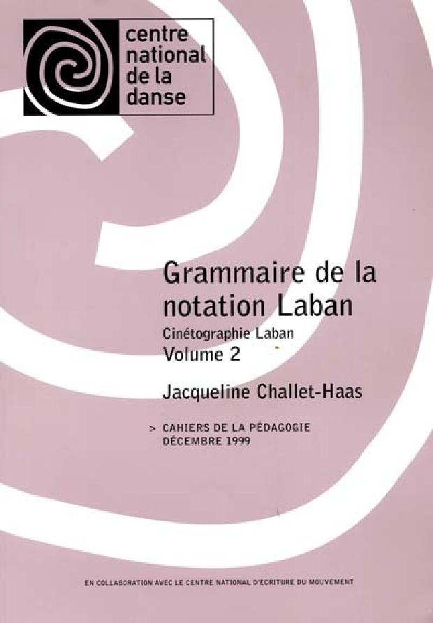 Livre - Grammaire de la notation Laban